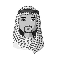 arabhuman race single icon in monochrome style vector image vector image