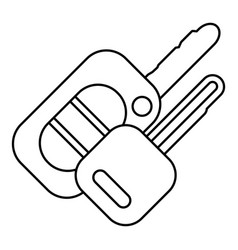 auto key icon outline style vector image