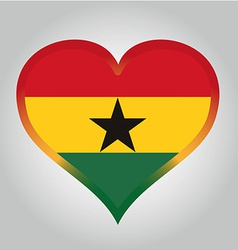 flag from ghana with its respective colors vector image