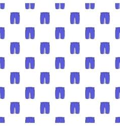 Men classic shorts pattern cartoon style vector image