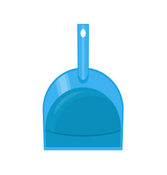plastic dustpan isolated on white vector image vector image