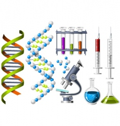 science and genetics icons vector image vector image