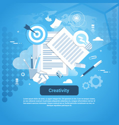 creativity idea development concept web banner vector image vector image