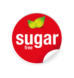 sugar free label tag sticker vector image