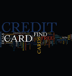 find a free credit card it s not difficult text vector image vector image