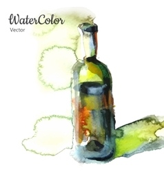 hand painting watercolor of vector image