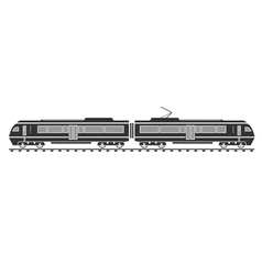 SIlhouette of electric train vector image vector image