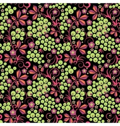 Stylized floral design Seamless vector image