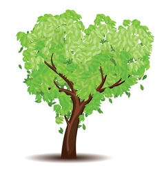 Tree with Abstract Green Leaves4 vector image