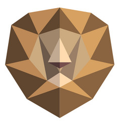 abstract low poly lion icon vector image