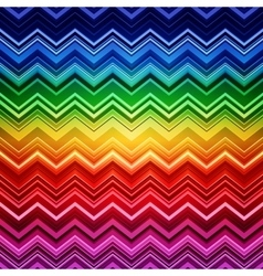 Abstract rainbow zig-zag warped stripes ethnic vector image