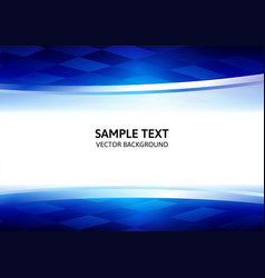 Abstract square blue geometrical background with vector