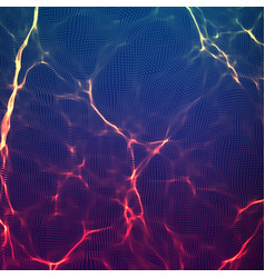Abstract violet wave mesh background vector