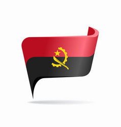 Angolan flag map pointer layout vector