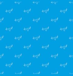 bikini bottoms top pattern seamless blue vector image