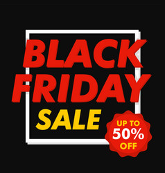 black friday mega sale concept background flat vector image