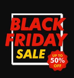 black friday mega sale concept background flat vector image