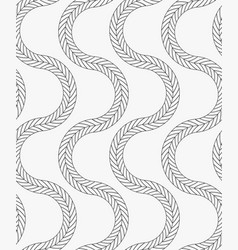 Black marker vertical wavy braids vector