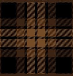 Brown and black tartan plaid seamless pattern vector