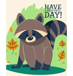 Cartoon raccoon design vector