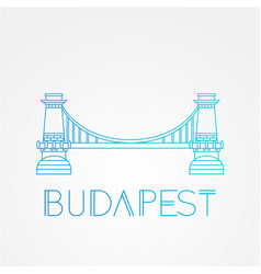 chain bridge symbol budapest hungary vector image