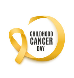 childhood cancer day banner with yellow curly vector image