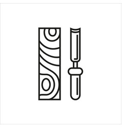 chisel icon on white background vector image