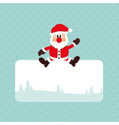 Christmas Santa Card vector image