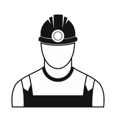Coal miner black simple icon vector