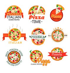 collection logos for menu of restaurants vector image
