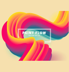 colorful flow vector image