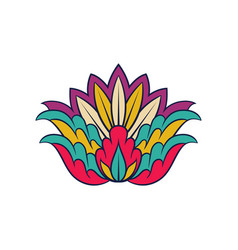 colorful indian pattern floral decorative vector image
