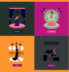 Colorful singing people concept vector