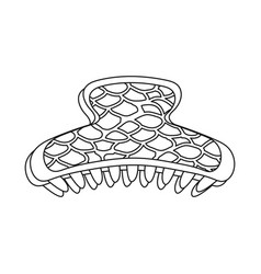 Comb and hairpins symbol vector
