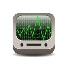 Computer monitor with digits vector image vector image