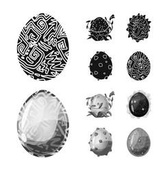 Design of animal and prehistoric symbol vector