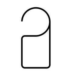 door label hanging line icon do not disturb sign vector image