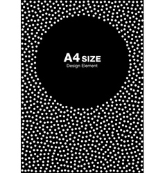 Dots Circle Frame on Black Background A4 size vector