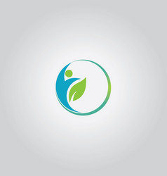 eco man logo vector image