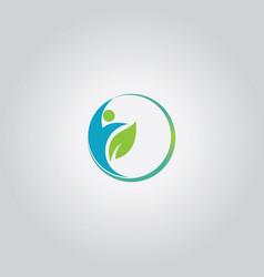 Eco man logo vector