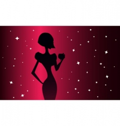 elegance woman vector image