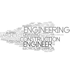 Engineering word cloud concept vector