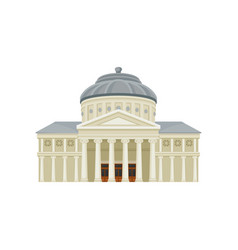 facade of romanian athenaeum famous landmark of vector image