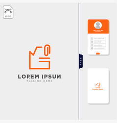 file document logo template and inspirationfree vector image