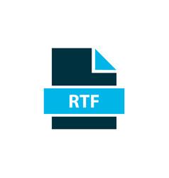 File rtf icon colored symbol premium quality vector