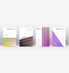 Flyer layout geometric dramatic template for broc vector