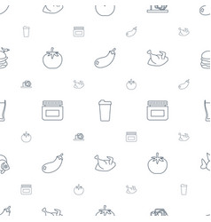 Food icons pattern seamless white background vector