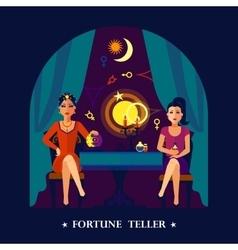 Fortune Teller Cristal Ball Flat vector