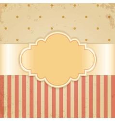 Golden vintage card vector image