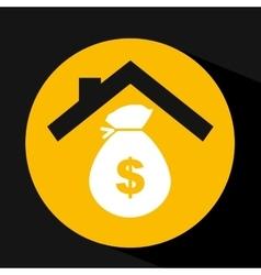 hand holding money bag dollar design vector image